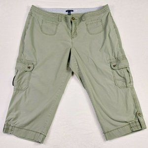 Tommy Hilfiger Womens Cargo Cropped Pants Size 20